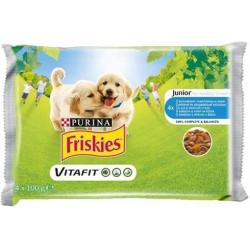 Nestlé Friskies dog Junior Chicken & Carote kapsičky 4 x 100g