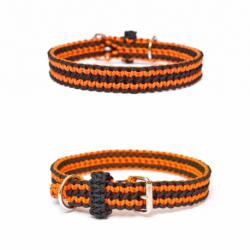 Oranžovo-čierny obojok pre psa