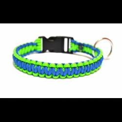 Jednoduchý obojok-modro-zelený