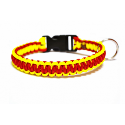 Jednoduchý obojok-červeno-žltý