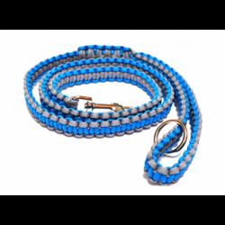Pevné ploché vodítko - modro-šedé