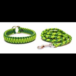 Set vodítko+obojok - zelený