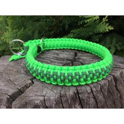 Dvojfarebný sťahovací obojok zelený