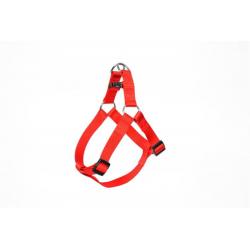 Postroj DUVO+ nylon červený 50-65 cm/ 20 mm