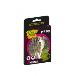 Obojok Dr.Pet pre psy 75 cm antiparazitárny ČIERNY s repelentným účinkom (tick and flea repellent collar for dogs)