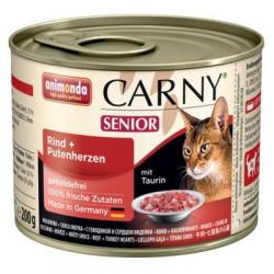 Animonda CARNY® cat Senior hovädzie a morčacie srdiečka 200 g konzerva