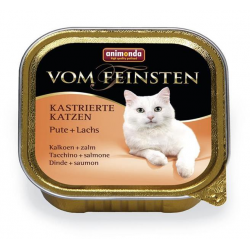 Animonda Vom Feinsten cat Kastrované mačky morka a losos 100 g