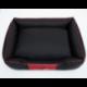 Pelech pre psa CESAR PERFECT čierny s červeným lemom